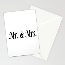 Mr. & Mrs. Stationery Cards