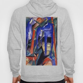 """Franz Marc """"Three Fabulous Beasts (also known as Creation of Horses)"""" Hoody"""