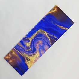 Marble gold and deep blue Yoga Mat