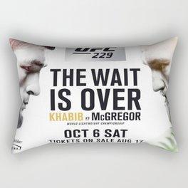 UFC 229 Khabib vs McGregor Rectangular Pillow