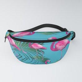 Summer Flamingo Palm Vibes #2 #tropical #decor #art #society6 Fanny Pack