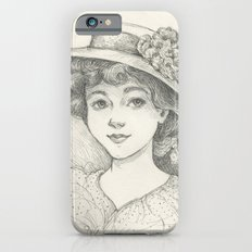 Sketch of an Edwardian Lady iPhone 6s Slim Case