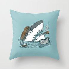 The Dad Shark Throw Pillow