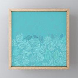 LEAVES ENSEMBLE TURQUOISE Framed Mini Art Print