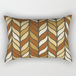 Boho Chic Retro Weave Rectangular Pillow
