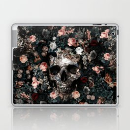 Skull and Floral pattern Laptop & iPad Skin