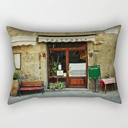 Entrance of old italian restaurant in Tuscany Rectangular Pillow