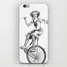 Circus Bicyclist iPhone & iPod Skin