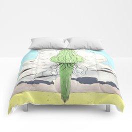 Méduse volante #2 Comforters