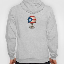 Vintage Tree of Life with Flag of Puerto Rico Hoody