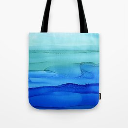 Alcohol Ink Seascape Tote Bag