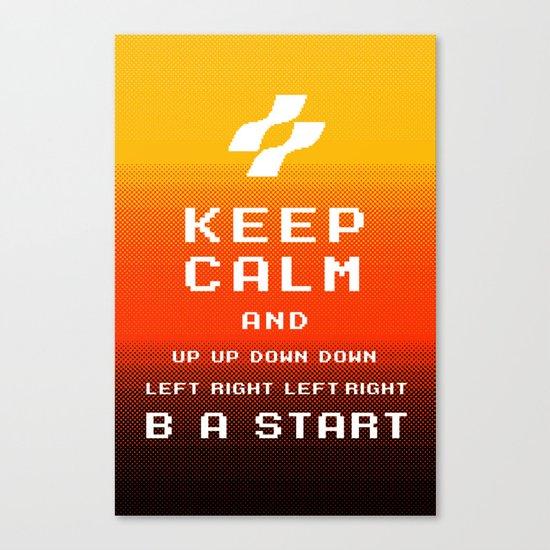 keep calm konami. Canvas Print