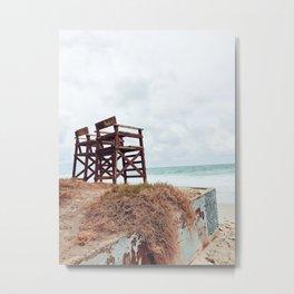 Beach Seats Metal Print