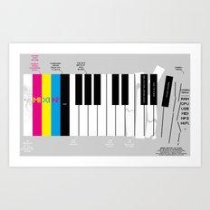 Brief History of Music Art Print