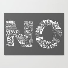 Mixed Messages Canvas Print
