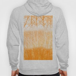 Frosted Winter Branches in Dusty Orange Hoody