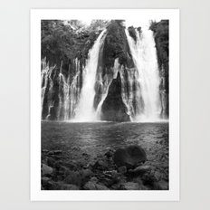 Places in Black & White: Burney Falls 14 Art Print
