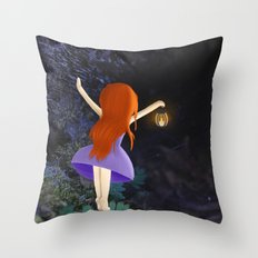 what's in the dark? Throw Pillow