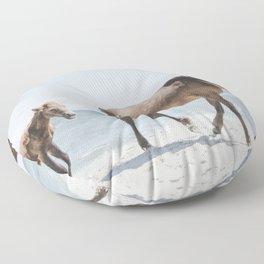Horse Horse beach Floor Pillow