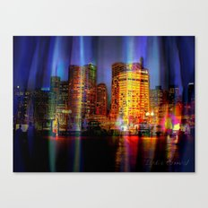 Behind the curtain 3 (Sydney) Canvas Print