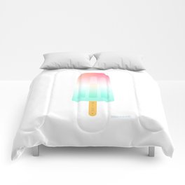 Pop, pop, pop my popsicle by Sarah van Ours / SarahvanOurs Comforters