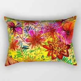 Tropical Hot Heat Flower Hibiscus Garden Rectangular Pillow