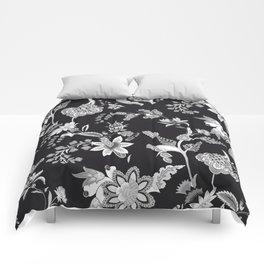 Black Onyx Chinoiserie Comforters