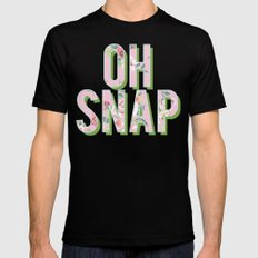 OH SNAP Mens Fitted Tee Black MEDIUM