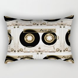Retro classic vintage transparent mix cassette tape Rectangular Pillow