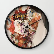 polygonal kimono impress Wall Clock