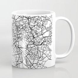 Paris France Street Map Minimal Coffee Mug
