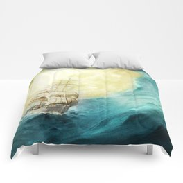 Through Stormy Waters Comforters