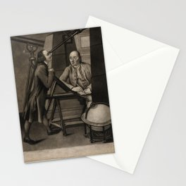 J Watson (1778) - Thomas Phelps and John Bartlett in the Macclesfield Observatory, Oxfordshire Stationery Cards