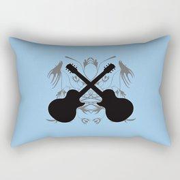 Crossed Guitars & Tribals Rectangular Pillow
