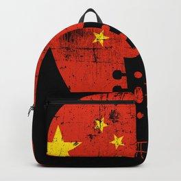 China Flag Guitar Plectrum Backpack