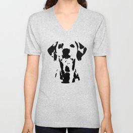 Dalmatian dog watercolour Unisex V-Neck