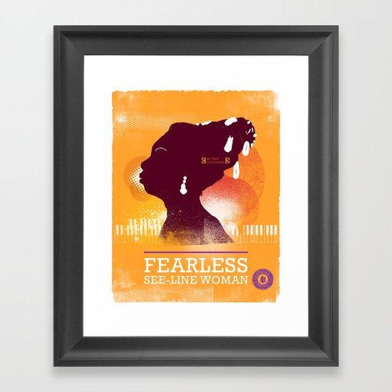 Fearless: See-line Woman Framed Art Print