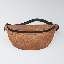 Brown vintage faux leather background Fanny Pack