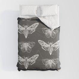 Geometric Moths inverted Comforters