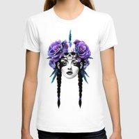 purple T-shirts featuring New Way Warrior by Ruben Ireland