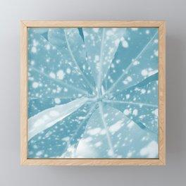 Spotted Leaves. nature, blue, white, decor, art, leaves, leaf, society6 Framed Mini Art Print