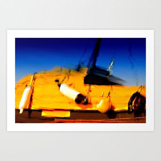 Smeared Boat Art Print
