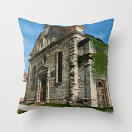 Old Synagogue in Levice Throw Pillow