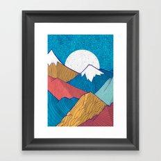 The Crosshatch Sky Framed Art Print