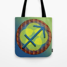 Flower of Life SAGITTARIUS Astrology Design Tote Bag