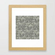 dystopian toile mono Framed Art Print