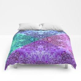 India Pattern Mandala Cloudy Clotting Blue Pink Purple Teal Comforters