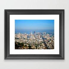 Twin Peaks, San Francisco Framed Art Print