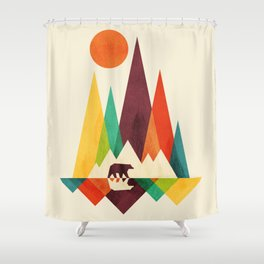 Bear In Whimsical Wild Shower Curtain
