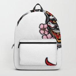 Hannya Mask Tattoo Vector Backpack